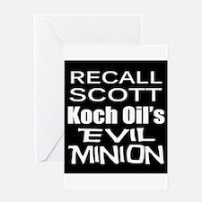 Recall Governor Rick Scott Greeting Card