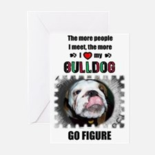 THE MORE I LOVE MY BULLDOG Birthday Cards (Package