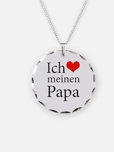 I Love Dad (German) Necklace