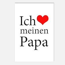 I Love Dad (German) Postcards (Package of 8)