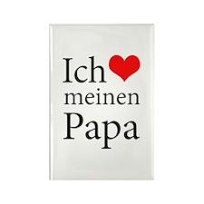 I Love Dad (German) Rectangle Magnet