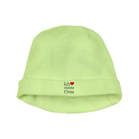 I Love Grandma (German) baby hat