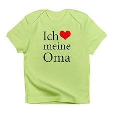 I Love Grandma (German) Infant T-Shirt