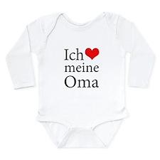 I Love Grandma (German) Long Sleeve Infant Bodysui