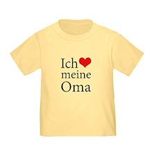 I Love Grandma (German) T