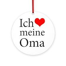 I Love Grandma (German) Ornament (Round)