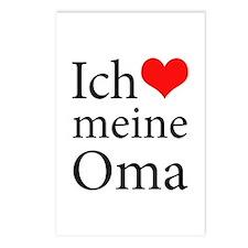 I Love Grandma (German) Postcards (Package of 8)