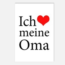 I Love Grandma (German) Postcards (Package of 8)