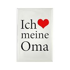 I Love Grandma (German) Rectangle Magnet