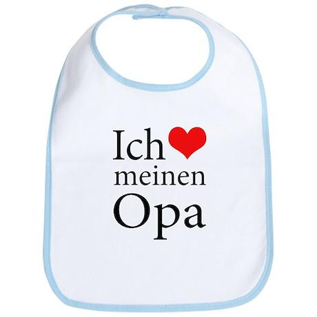 I Love Grandpa (German) Bib