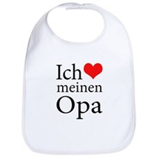 I Love Grandpa (German) Bib