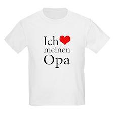 I Love Grandpa (German) T-Shirt