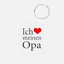 I Love Grandpa (German) Keychains