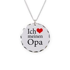 I Love Grandpa (German) Necklace