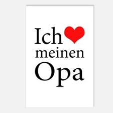 I Love Grandpa (German) Postcards (Package of 8)