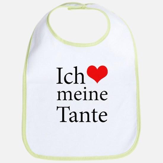 I Love Aunt (German) Bib