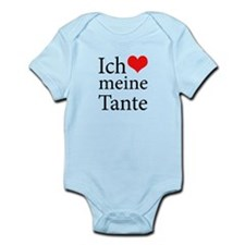 I Love Aunt (German) Infant Bodysuit