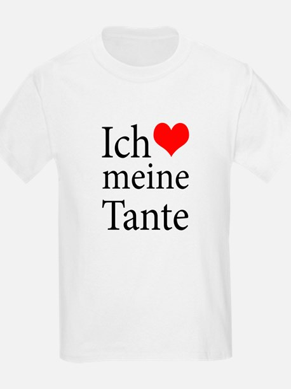 I Love Aunt (German) T-Shirt