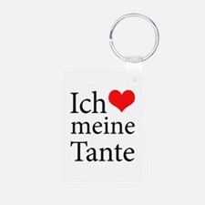I Love Aunt (German) Keychains