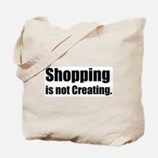 Anti-shopping tote bag