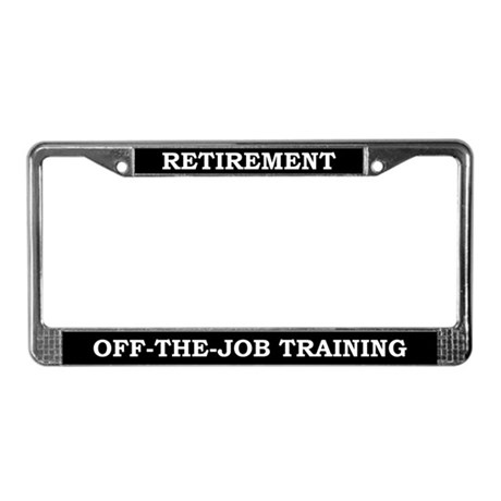 Retirement License Plate Frame