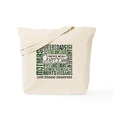 Family Square Liver Disease Tote Bag