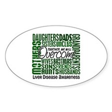 Family Square Liver Disease Decal