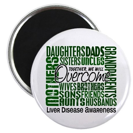 """Family Square Liver Disease 2.25"""" Magnet (10 pack)"""