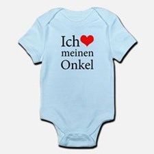 I Love Uncle (German) Infant Bodysuit