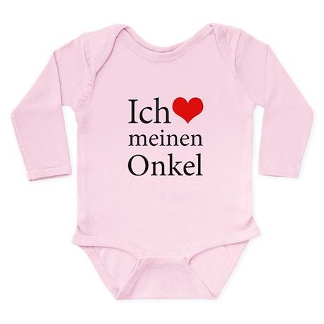 I Love Uncle (German) Long Sleeve Infant Bodysuit