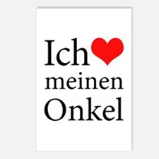 I Love Uncle (German) Postcards (Package of 8)
