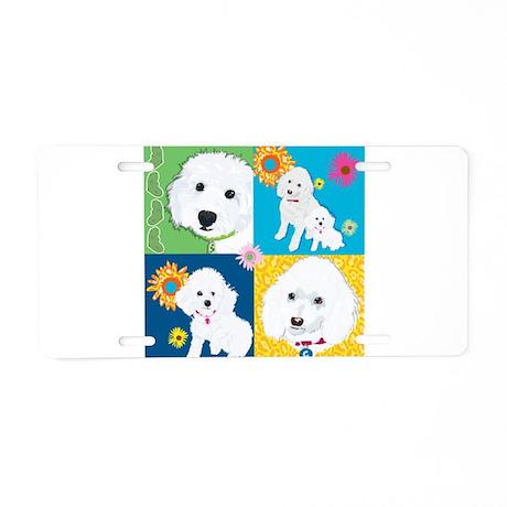 Ilene Poodle Warholl Aluminum License Plate