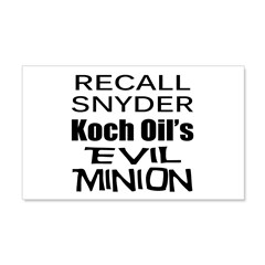 Recall Governor Rick Snyder 22x14 Wall Peel