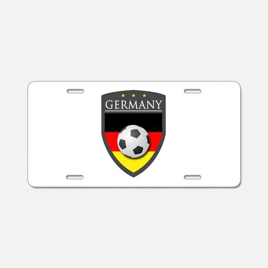Germany Soccer Patch Aluminum License Plate