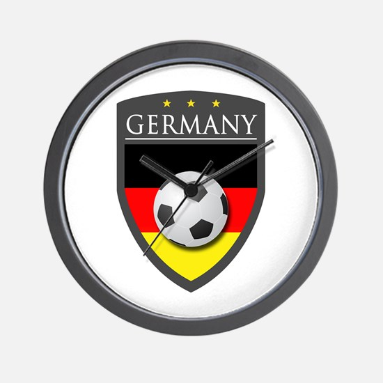 Germany Soccer Patch Wall Clock