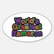 World's Greatest Kameron Oval Decal