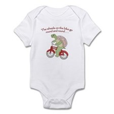 Turtle Riding Bicycle Infant Bodysuit