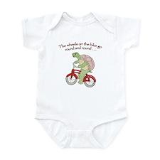 Turtle Riding Bicycle Onesie