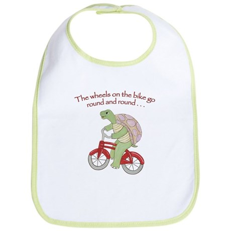 Turtle Riding Bicycle Bib