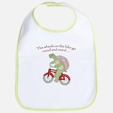 Turtle Riding Bicycle Bib