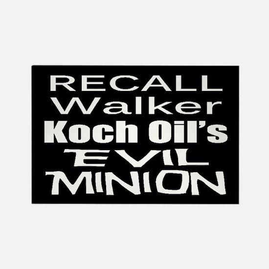 Recall Scott Walker Rectangle Magnet
