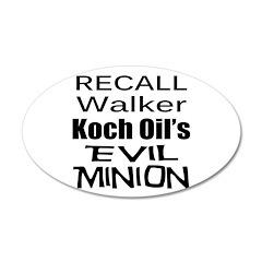 Recall Scott Walker 38.5 x 24.5 Oval Wall Peel