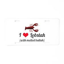 I Love Lobstah Aluminum License Plate