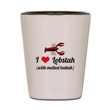 I Love Lobstah Shot Glass