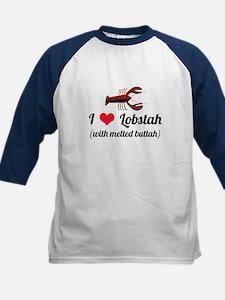 I Love Lobstah Kids Baseball Jersey