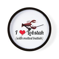 I Love Lobstah Wall Clock