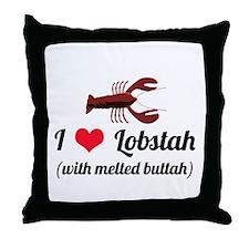 I Love Lobstah Throw Pillow