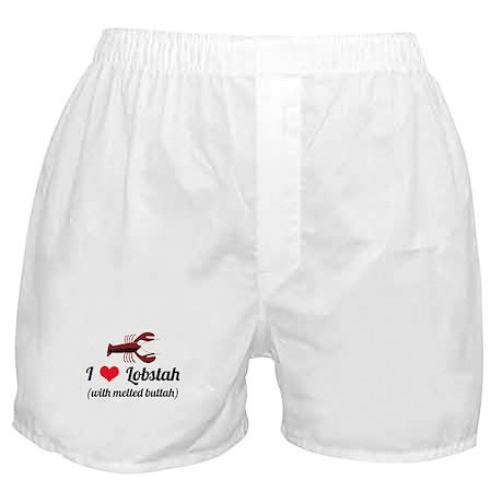 I Love Lobstah Boxer Shorts