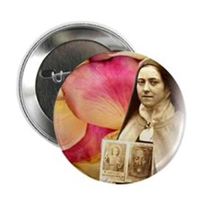 Saint Therese Rose Button