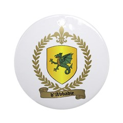 d'ABBADIE Family Crest Ornament (Round)